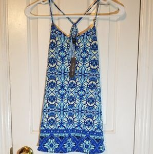 Nwt the limited sz small womens tribal floral blue